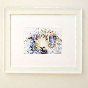 Winter Woolley Sheep Watercolour Print - animals & wildlife