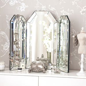 Flat Top Arch Dressing Table Mirror - mirrors