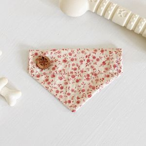 Chocolate Roses Slip On Dog Bandana - clothes