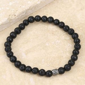 Men's Volcanic Stone Stretch Bracelet - men's jewellery