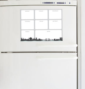 London Skyline Magnetic Fridge Planner - storage & organisers