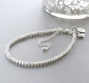 Personalised Sterling Silver Bracelet - charm jewellery