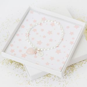 Maya Flower Girl Gift Card Silver Bracelet - children's jewellery