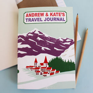 Personalised Alpine Travel Journal - travel journals & diaries