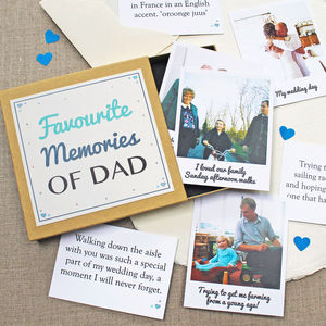 'Favourite Memories' Box - father's day cards