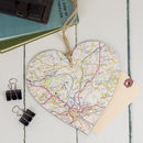 Personalised Map Hanging Heart