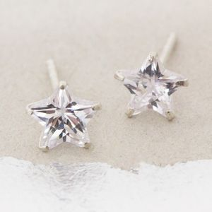 Lana Crystal Star Stud Earrings