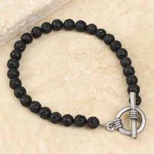 Men's Volcanic Stone Toggle Bracelet - men's sale