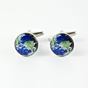 Earth Map Cufflinks - stocking fillers under £15