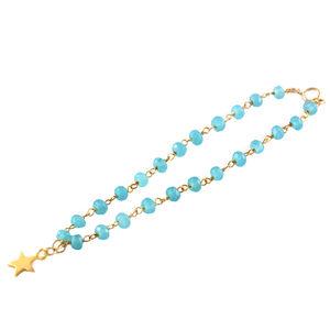 Green Chalcedony Rosary Star Bracelet
