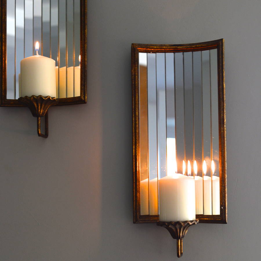 venetian wall candle holder by the forest & co notonthehighstreet.com