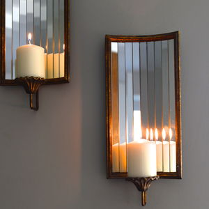 Venetian Wall Candle Holder - candles & candlesticks