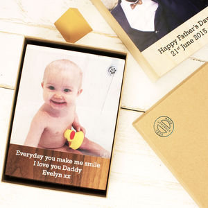 Personalised Wooden Photo Block - picture frames