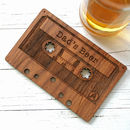 Coaster Personalised Cassette Tape