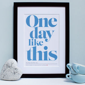 Personalised Daddy's Favourite Song Framed Print