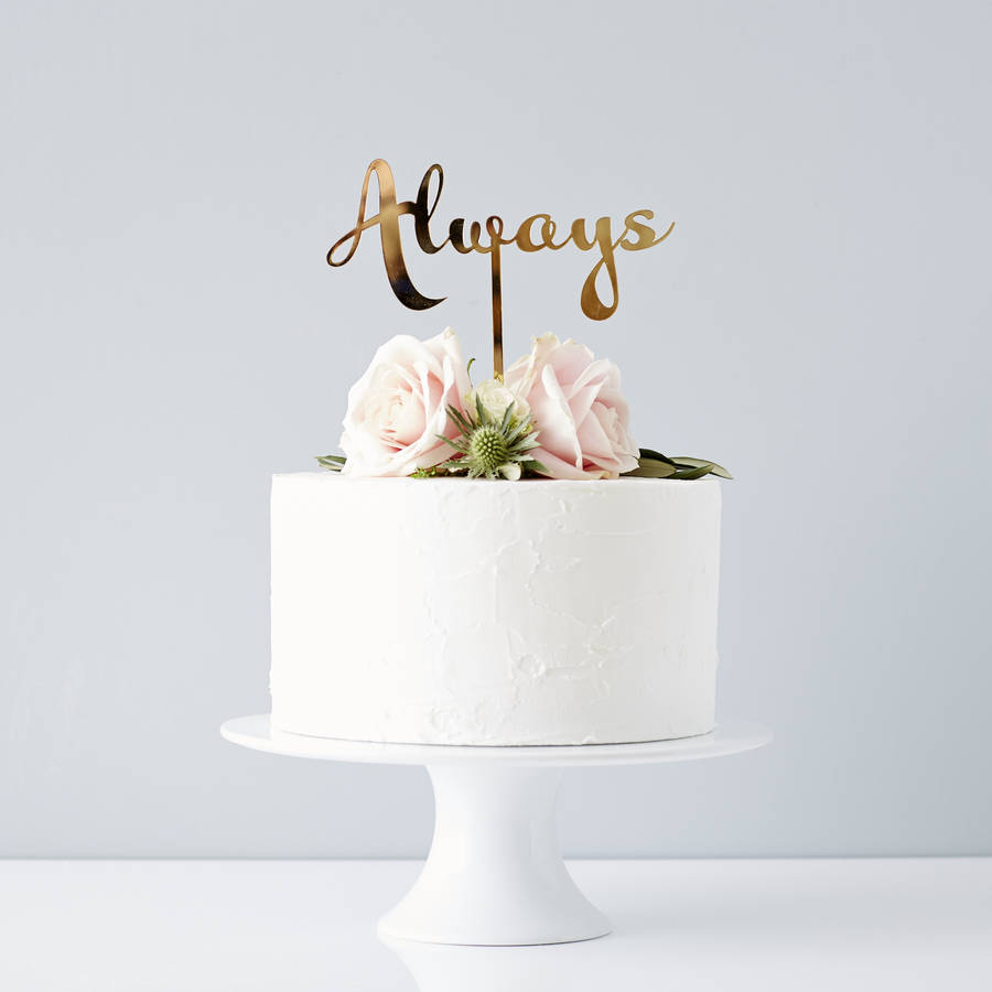 Calligraphy always wedding cake topper by sophia victoria joy calligraphy always wedding cake topper junglespirit Choice Image