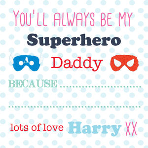 Father's Day Card 'You'll Always Be My Superhero' - personalised cards