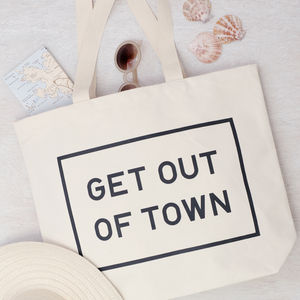 'Get Out Of Town' Big Canvas Bag - bags & purses