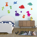 Dinosaurs With Eggs And Volcano Wall Sticker Pack