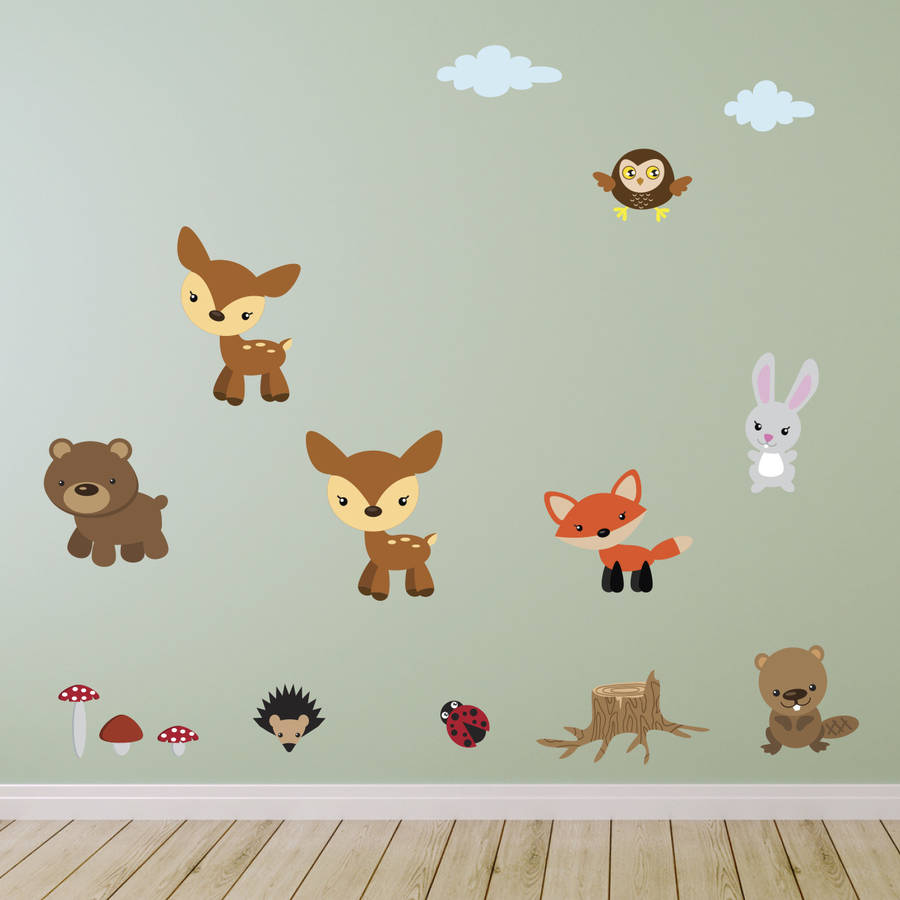 forest animals fabric wall stickers by mirrorin forest collection wall sticker wall stickers