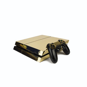 Ps4 Play Station Four Metallic Skin: Chrome Gold - stocking fillers under £15