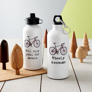 Personalised Cyclist's Sports Water Bottle - favourites