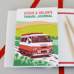 Personalised Campervan Travel Journal - travel & luggage