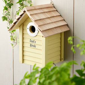 Personalised Wooden Bird Box - gifts for grandfathers