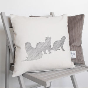 Bevy Of Otters Cushion