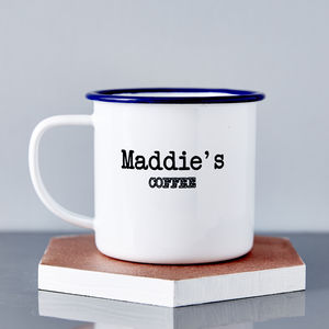 Enamel Personalised Name Mug - camping