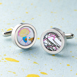 Child's Artwork Cufflinks - distinctive dad jewellery