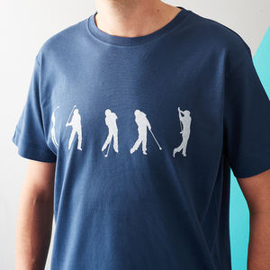 Golf Swing Sequence T Shirt - 40th birthday gifts