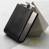 Hip Flask With Leather Detailing - anniversary gifts