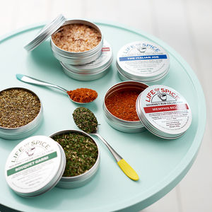 Gourmet Spices Six Tin Collection, Choose Six Tins - personalised