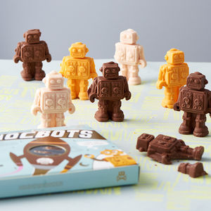 Box Of Eight Flavoured Chocbots - gifts for him