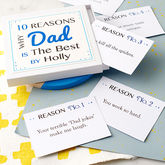 Personalised Best Dad Notes - cards
