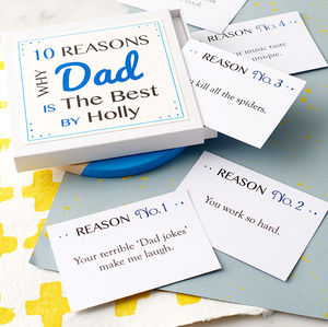 Personalised Best Dad Notes - stocking fillers under £15