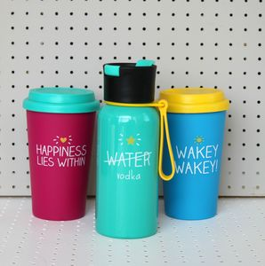 'Wakey Wakey' Quote Blue Travel Mug - camping