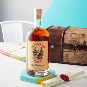 Rum Gift Chest With Personalised Scroll - food & drink sale