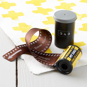 Message In A 35mm Film Reel For Dad - gifts for fathers