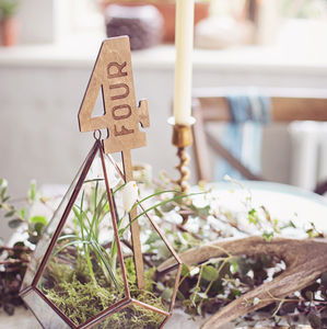 Wood Table Numbers - table decorations
