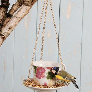 Tea Cup Bird Feeder - bird feeders