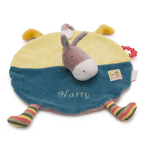 Personalised Embroidered Donkey Comforter