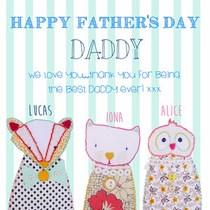 Happy Father's Day Card - personalised cards