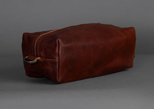 Soft Leather Wash Bag - wash & toiletry bags