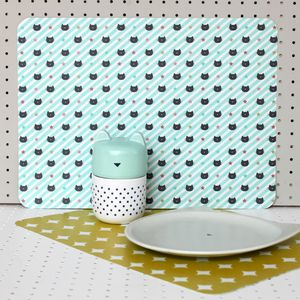 Kitty Placemat Blue