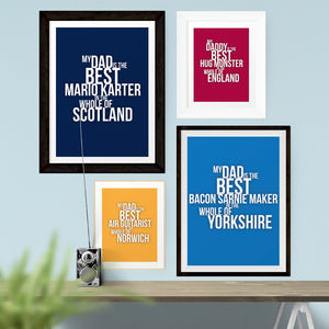 'The Best' Personalised Typographic Print