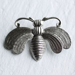 Silver Bee Brooch - pins & brooches