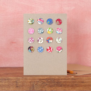 Liberty Print Fabric Spots Card - blank cards