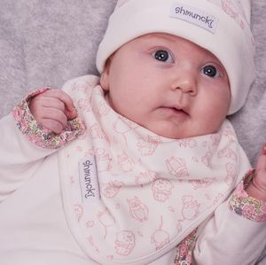 Woodland Lined Baby Bib